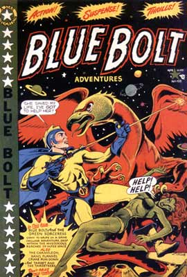Blue Bolt cover, by L.B. Cole (1950)