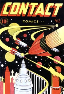 Contact Comics cover, by L.B. Cole (1946)