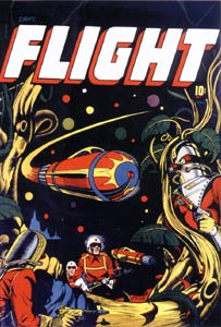 Captain Flight cover, by L.B. Cole (1947)