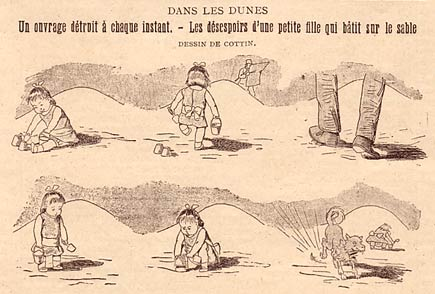comic art by E. Cottin (1895)