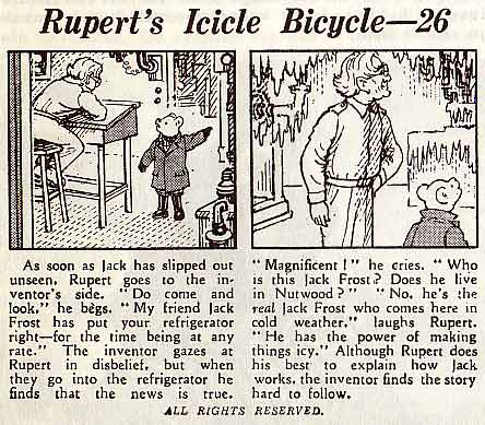 Rupert the Bear by Alex Cubie