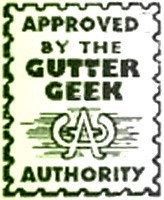 Approved by the Gutter Geek Authority seal, a comics code parody