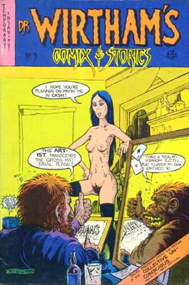 Dr. Wirtham's Comix & Stories, cover by Greg Irons, 1977