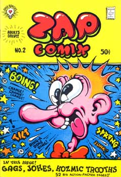 Zap Comix 2, cover by Robert Crumb, 1968