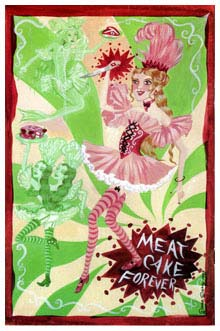 Meatcake cover, by Dame Darcy