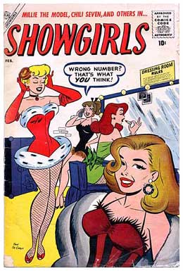 Showgirls cover, by Dan DeCarlo