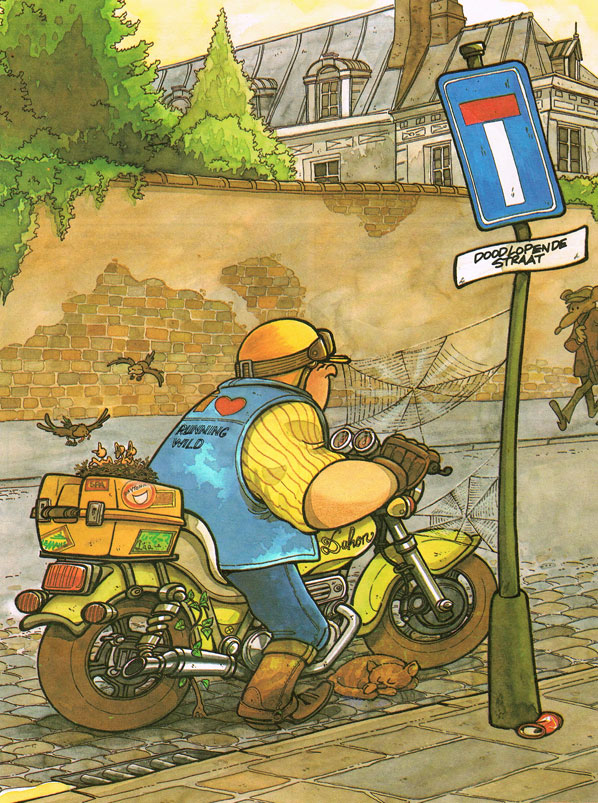 Les Motards by Charles Degotte