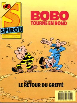 Spirou cover by Paul Deliège