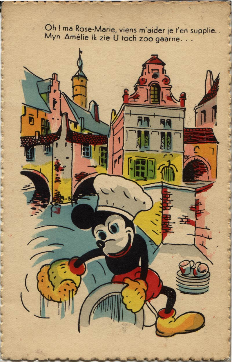 postcard by Walter E. Disney, c. 1931