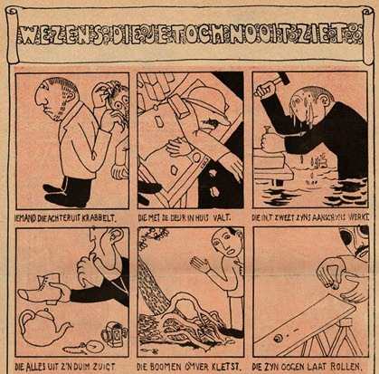 comic strip from De Ware Jacob, by Ko Doncker (1905)