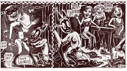 comic art by Julie Doucet