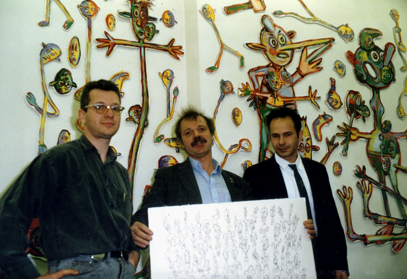 Bruno Richard, Kees Kousemaker of Lambiek, and Pascal Doury
