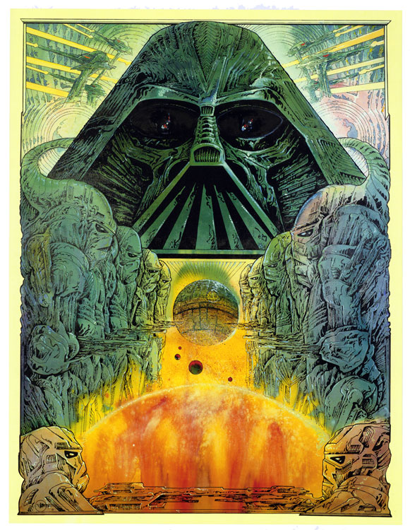 Star Wars, gouache by Philippe Druillet for George Lucas