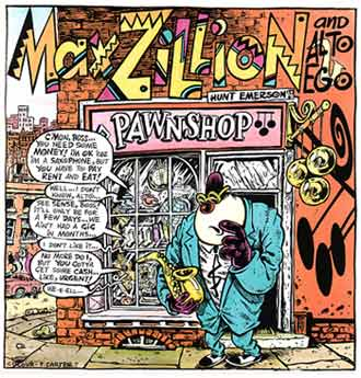 Max Zillion, by Hunt Emerson