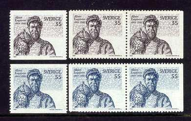 self-portrait on a stamp