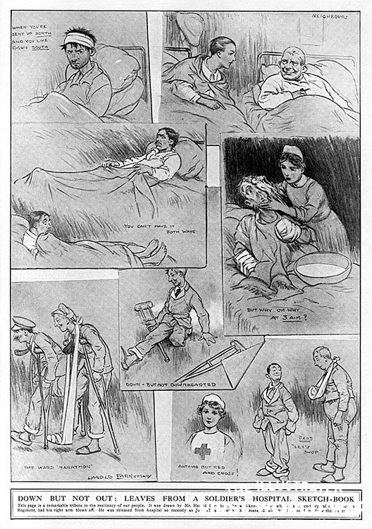 comic from The Graphic, by Harold Farnshaw (1917)