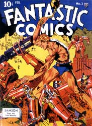 Fantastic Comics cover by Lou Fine 1940