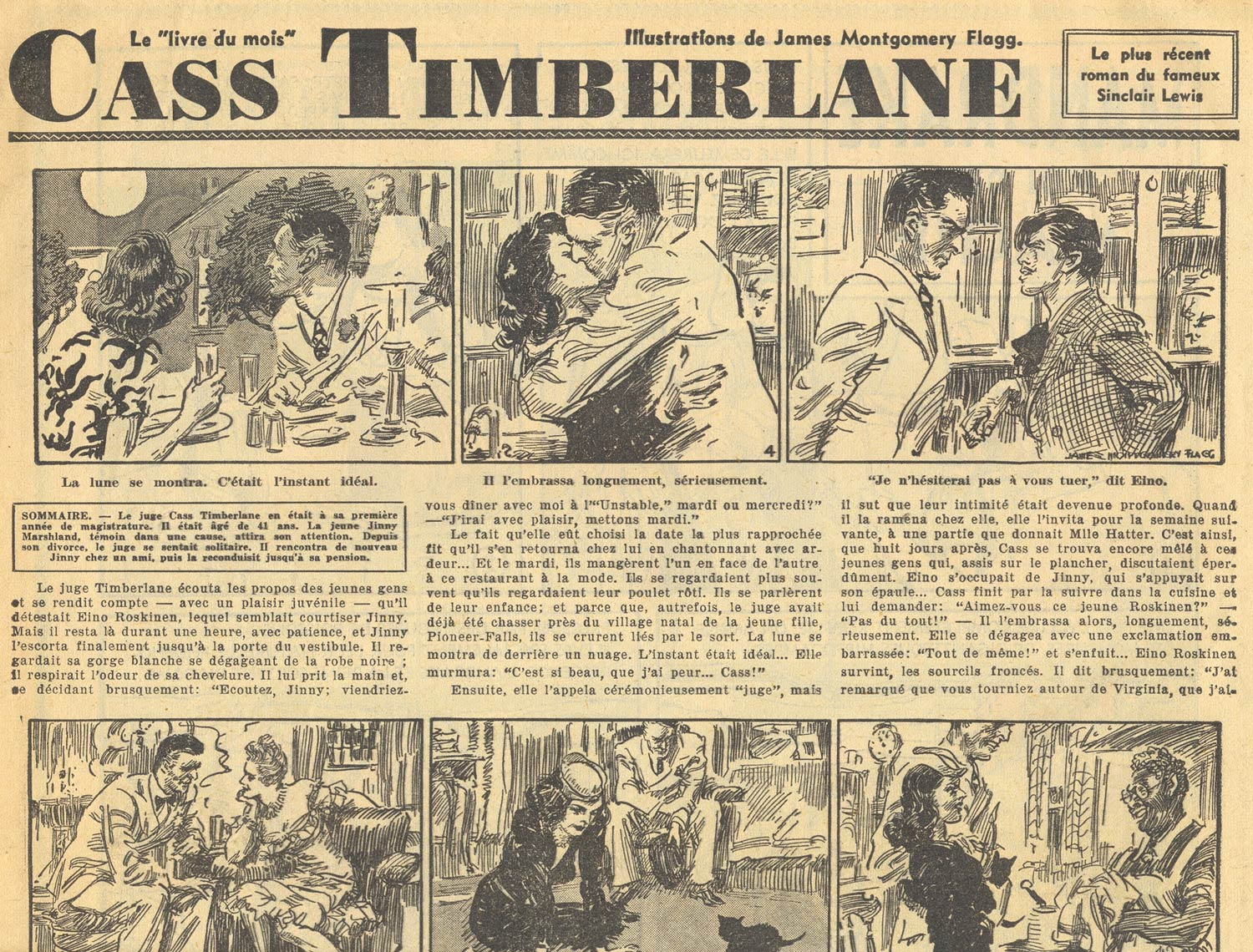 Cass Timberlane, novel by Sinclair Lewis (Petit Journal, 18/11/1945)