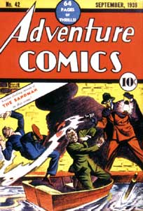 Adventure Comics cover, by Creig Flessel (1939)