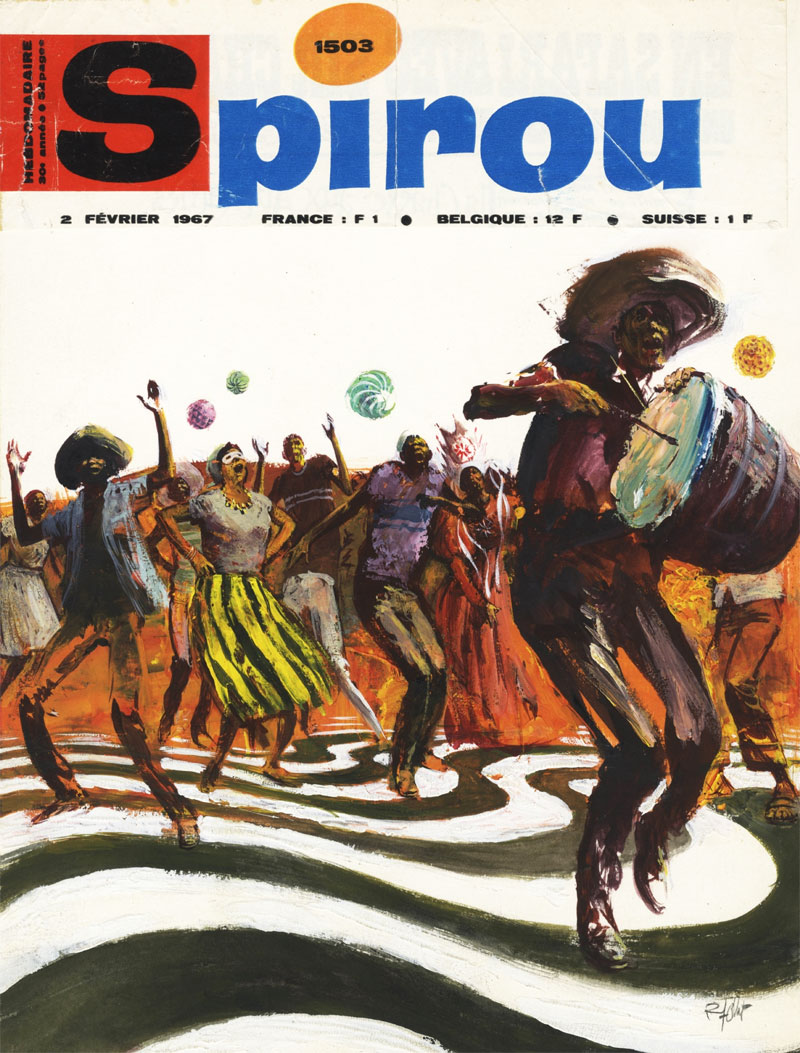 Spirou cover, by René Follet