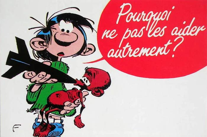 Unicef postcard by Franquin