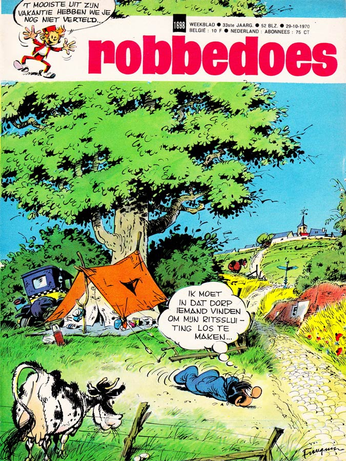Spirou cover by Franquin