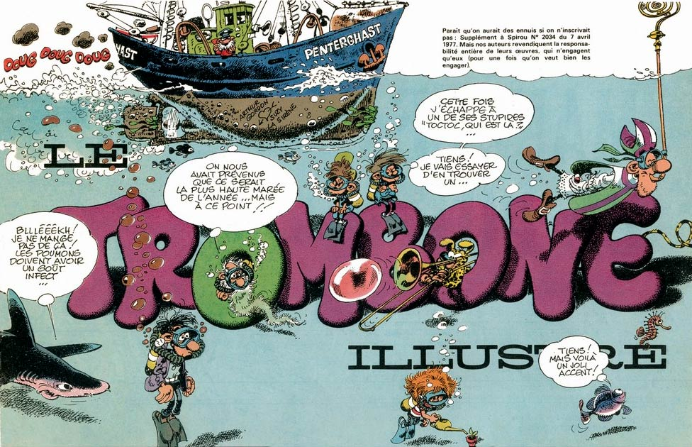 Header for Le Trombone, by Franquin