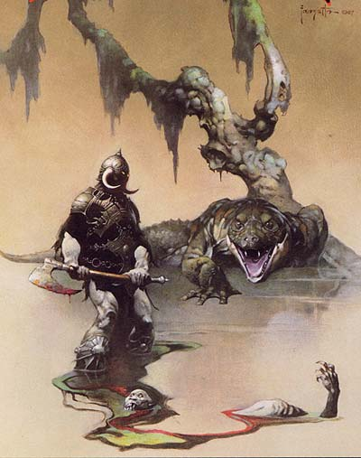 comic art by Frank Frazetta