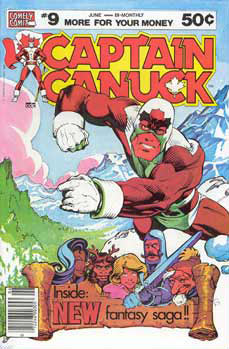 Captain canuck cover, by George Freeman