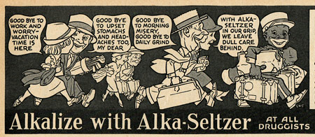 Alka Seltzer ad by G.W. French
