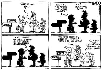 comic art by Gado (Godfrey Mwampembwa)