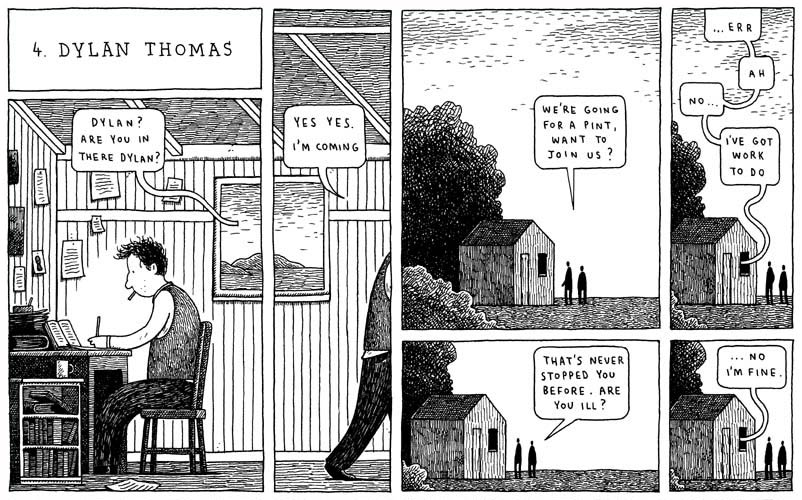 Dylan Thomas by Tom Gauld