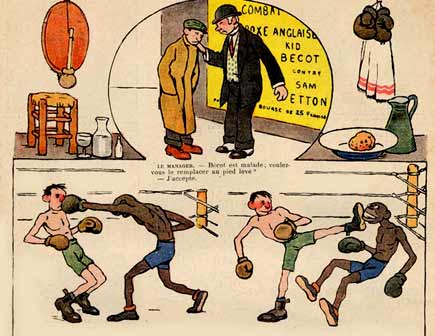 comic art by Charles Genty (Le Rire, 1912)