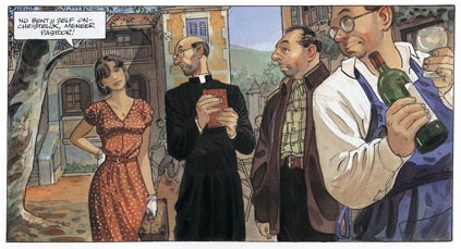 comic artwork by Jean-Pierre Gibrat