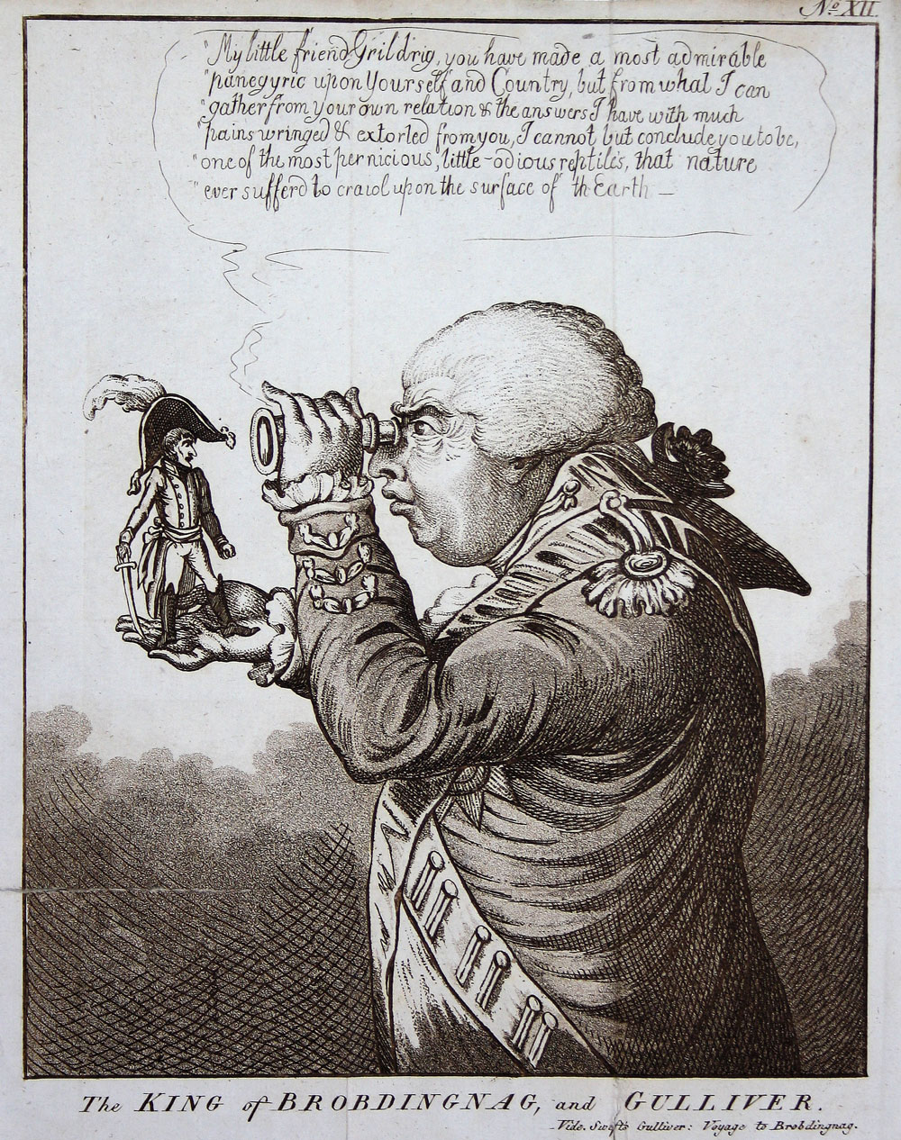 The King of Brobdingnag and Gulliver, by James Gillray 1803