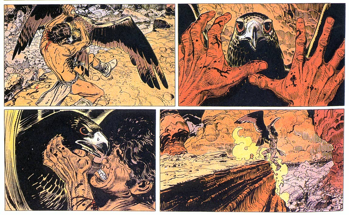 Blueberry comic panel from Nez Cassé, by Jean Giraud, 1980