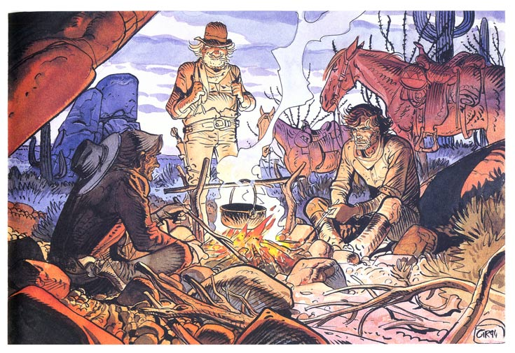 panel from Blueberry's Stardom, by Jean Giraud, 1994