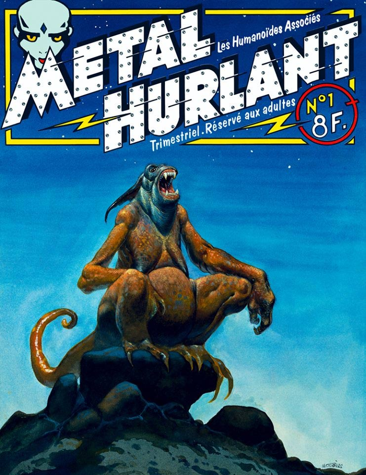 cover for Metal Hurlant 1, by Moebius