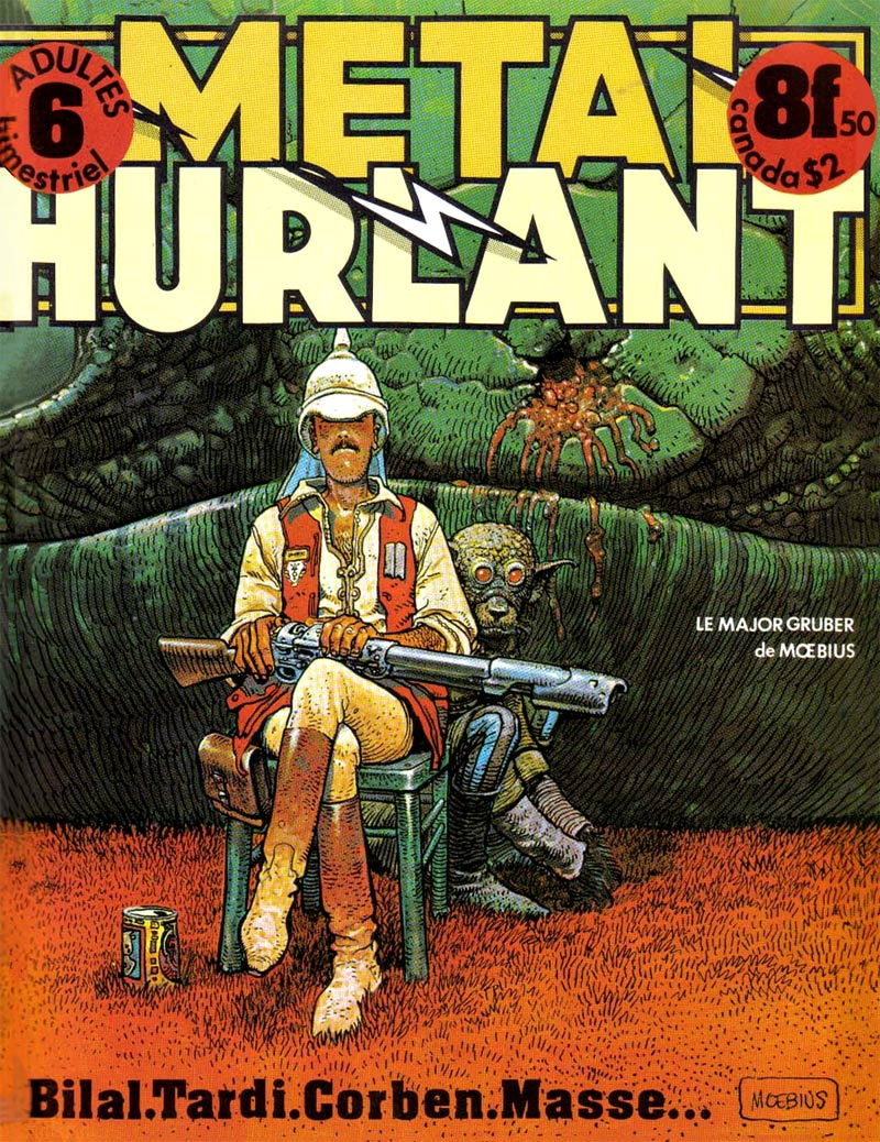 cover for Metal Hurlant 6, by Moebius