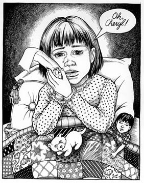 comic art by Phoebe Gloeckner