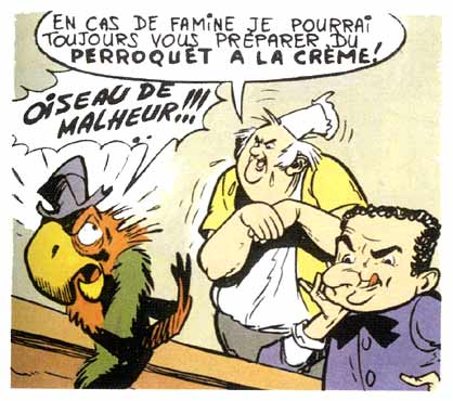 Goscinny drawn by Uderzo