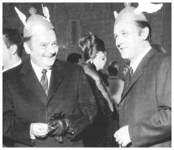 René Goscinny and Albert Uderzo at Asterix anniversary in 1967