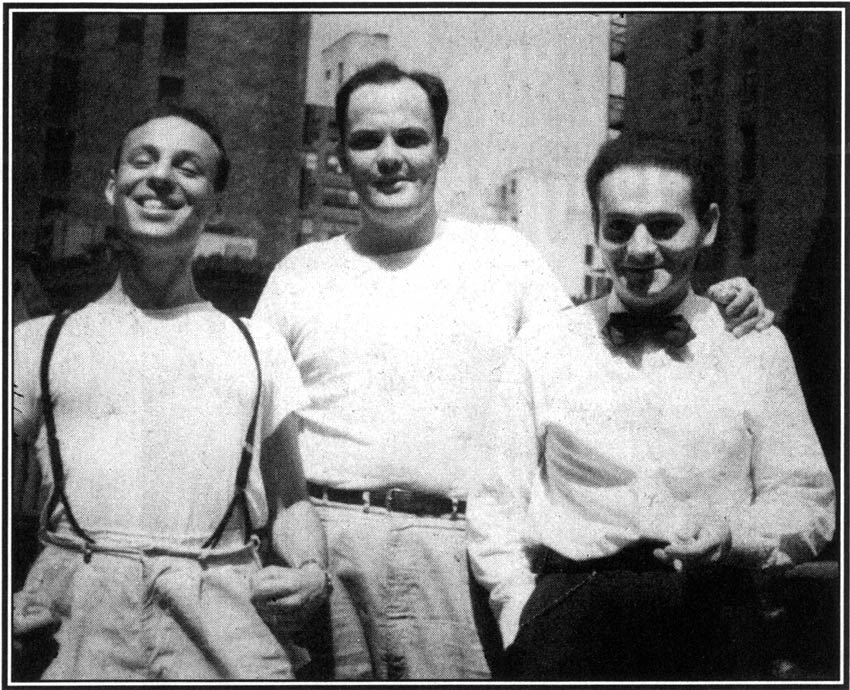 Harvey Kurtzman, John Severin and René Goscinny in 1940