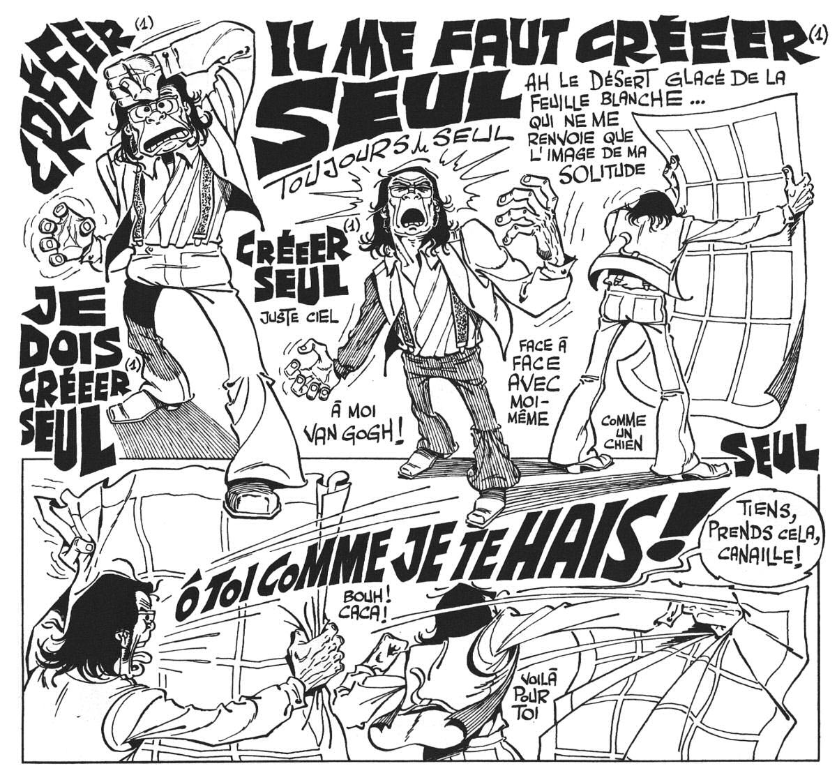 Superdupont is a superhero based entirely on french stereotypes - La Coulpe By Gotlib
