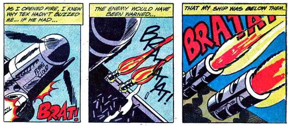 Roy Lichtenstein's favorite, 'Men of War' #90 (DC Comics), by Jerry Grandenetti in mid-1920's