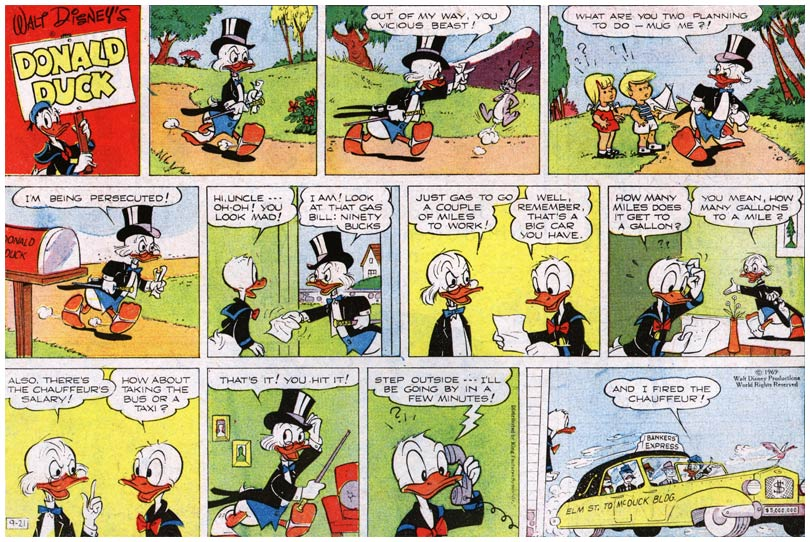 Donald Duck strip by Frank Grundeen