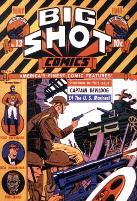 Big Shot Comics cover, by Fred Guardineer (1941)