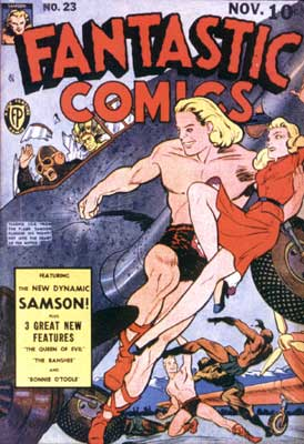Fantastic Comics cover, by Paul Gustavson (1941)