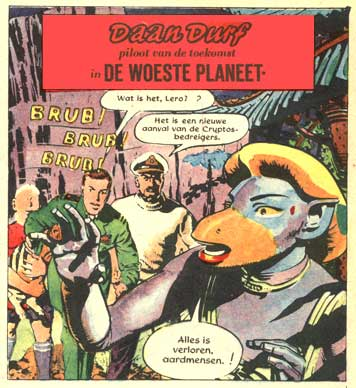 Dan Dare in Dutch, by Frank Hampson 1960