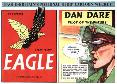 Dan Dare weekly British comic by Frank Hampson, 1950